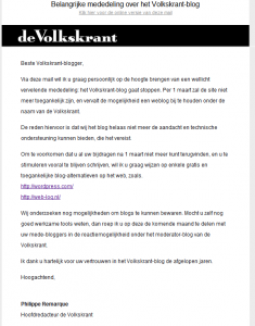 De mail van Philippe Remarque