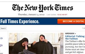 Voorpagina NYT online